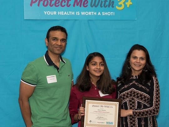 Arya Sasne of Thomas Grover Middle School in the West