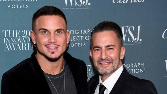 The newly engaged Marc Jacobs, right, and Char Defrancesco.