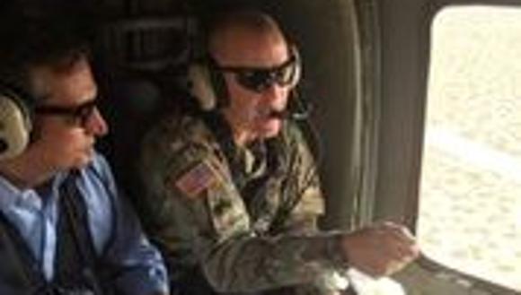 U.S. Sen. Ted Cruz, R-Texas, left, goes on an aerial