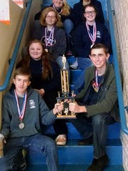 Walhalla High School JROTC Rifle Team members shown, starting from top left to right are Elizabeth Cobb, Carter Duke, Jessica Elder, Lakyn Tippett, Halie Cobb, Nicholas Hightower and Matthew Smith.