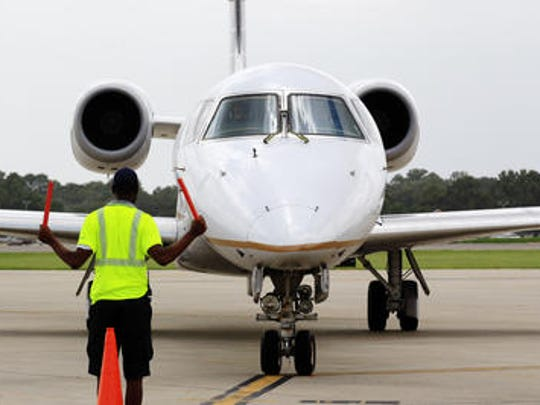 A plane arrives at Lafayette Regional Airport in this file photo.