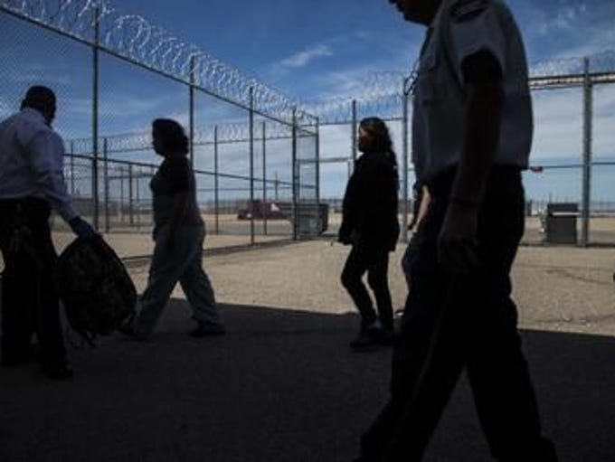 New detainees arrives at The Eloy Detention Center