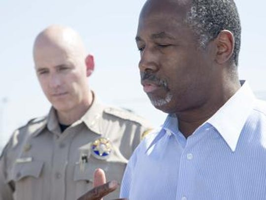 Sheriff Paul Babeu with GOP presidential candidate Ben Carson.