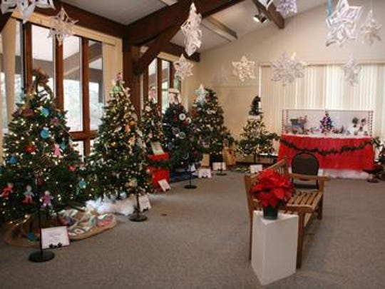 Two rooms of the Somerset County Environmental Education Center are devoted to its Festival of Trees each December.