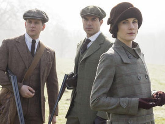 "In a scene from ""Downton Abbey's"" fifth season: From"