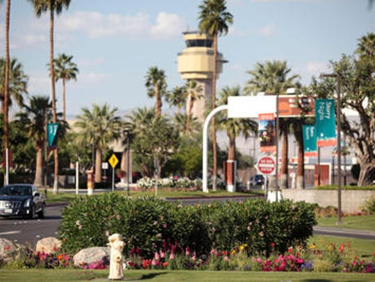 The Palm Springs International Airport saw two of its flights cancelled after the FAA announcement.