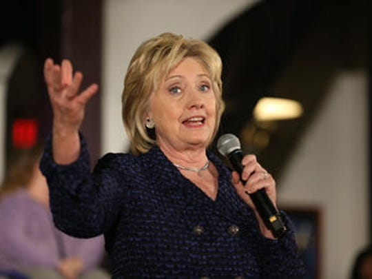 FILE - Former Senator of New York and Secretary of State Hillary Clinton.