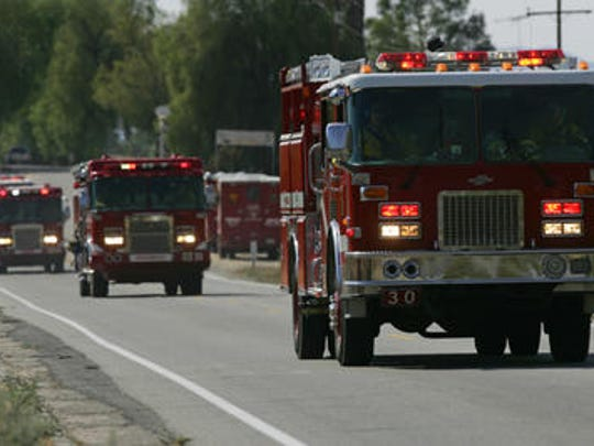 A fire in an abandoned home in Indio Tuesday night was extinguished by firefighters in about an hour.