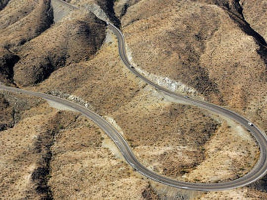 This file photo shows Highway 74, south of Palm Desert. A person died in a crash on the curvy road and two others injured Saturday, Oct. 19, 2019.