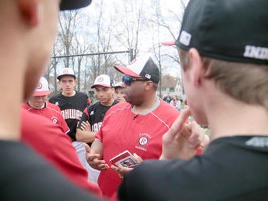 Rahway High School baseball coach Brad Edwards talks