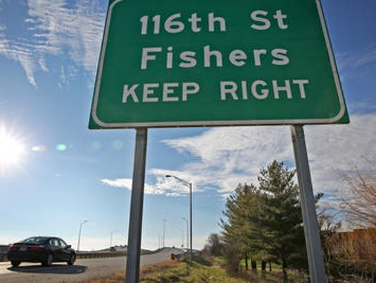 Fishers sign
