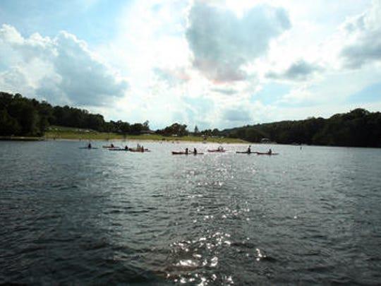 Kayakers on Lake Hopatcong