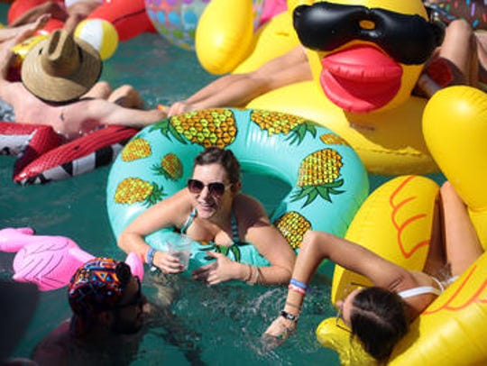 Pool party at Saguaro Hotel in Palm Springs.