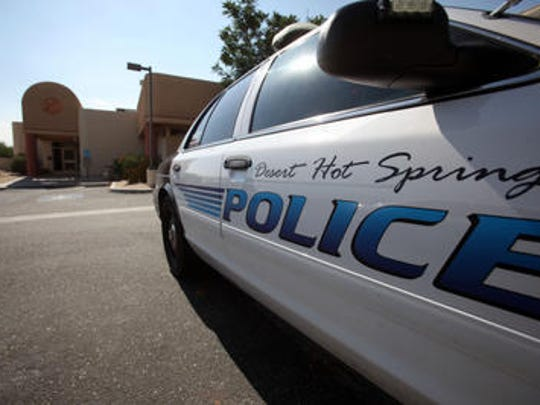 Desert Hot Springs police arrested three juveniles they accuse of damaging cars outside the city library.