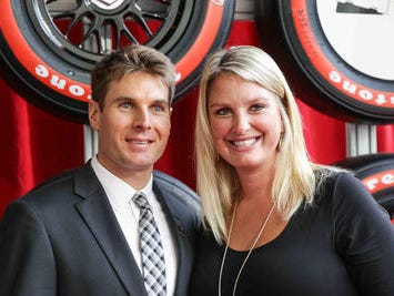 IndyCar Driver Will Power and wife Elizabeth Cannon, walk the red carpet during the Verizon Indy car Championship Celebration, held at the Hilbert Circle Theatre, Tuesday October 4th, 2016.