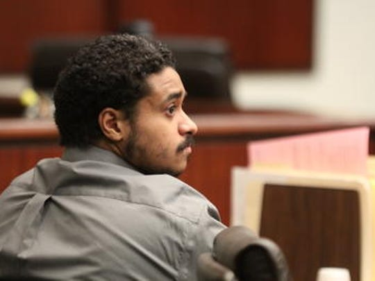 This Desert Sun file photo shows John Hernandez Felix during a court appearance. He's accused of killing two Palm Springs police officers in Octobe 2016.