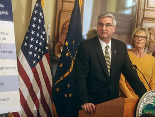 Gov.-elect Eric Holcomb announces his legislative agenda,