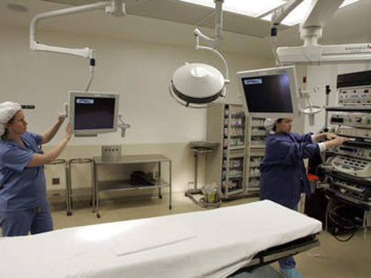 An operating room at Bayshore Community Hospital in