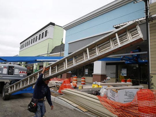 Renovations continue on the Middletown Shopping Center on Route 35.