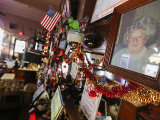 Ruthie's Bar is named after former owner Ruthie Russell, whose photo hangs behind the bar.