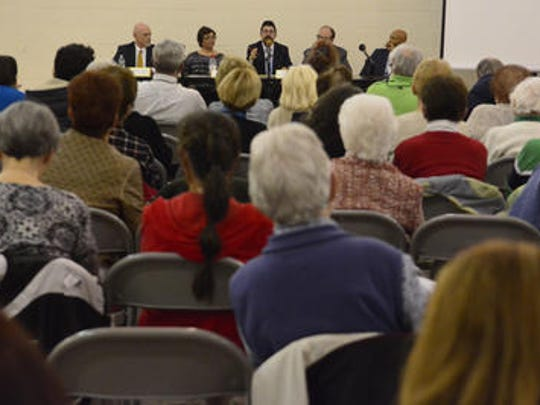 St. Mary's Parish Center in Manahawkin hosted an interfaith group of religious leaders from the Muslim, Jewish and Christian communities for a dialogue about cultural diversity and respect on Wednesday evening.