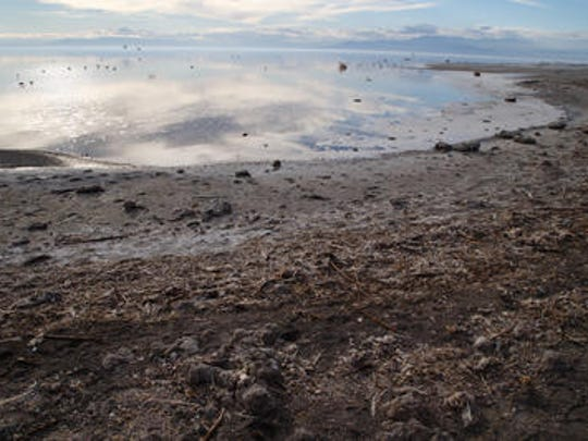 Elevated levels of hydrogen sulfide at the Salton Sea are causing the air to smell like rotten eggs. The stench comes during a heatwave that's causing near-record temperatures.