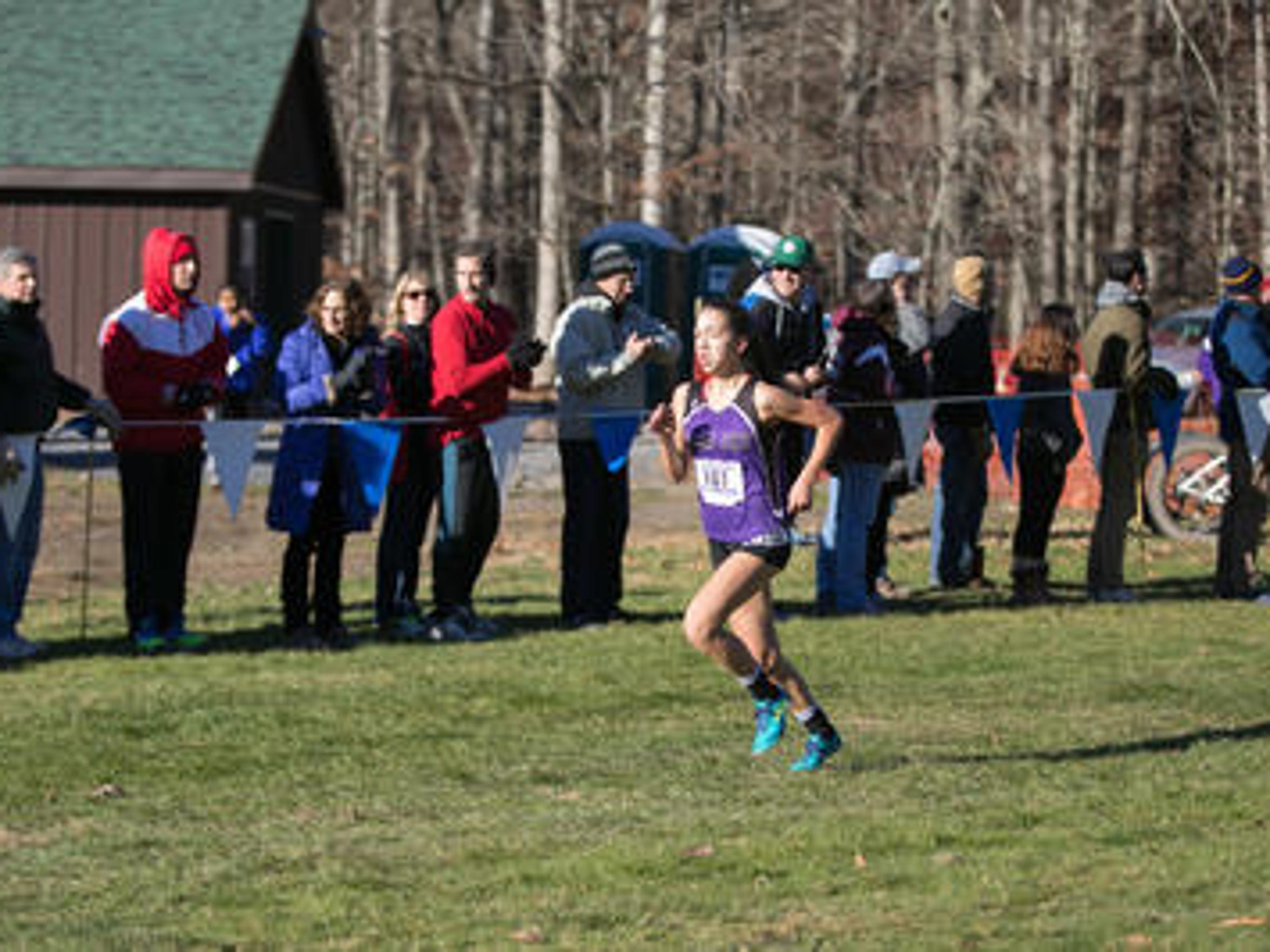John Jay's Pippa Nuttall competes at 2016 State Cross-Country