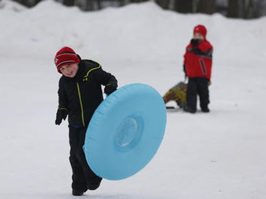 Enjoy three sled and saucer hills at Iverson Park in Stevens Point.