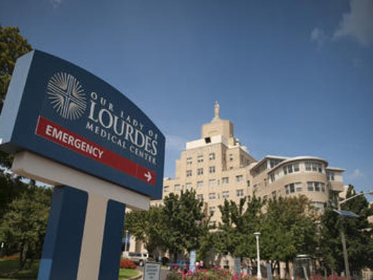 The parent firm of Our Lady of Lourdes Medical Center in Camden contends Cooper University Health Care has broken the terms of a confidentiality agreement.