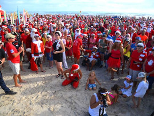 Thousands turned out on Christmas Eve Morning in Cocoa