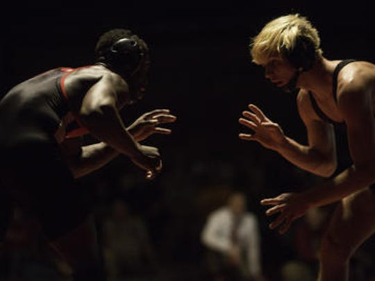 (L-R) Bound Brook's Stephan Glasgow appears against