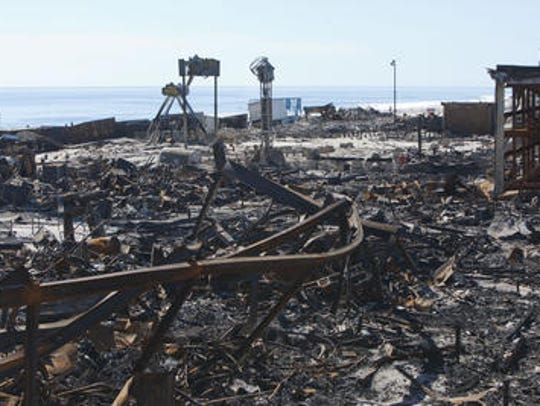The Seaside fire aftermath, a week later.