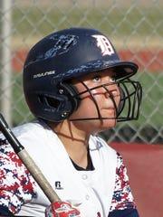 Sophomore Jesslyn Olivas singled and scored Deming's
