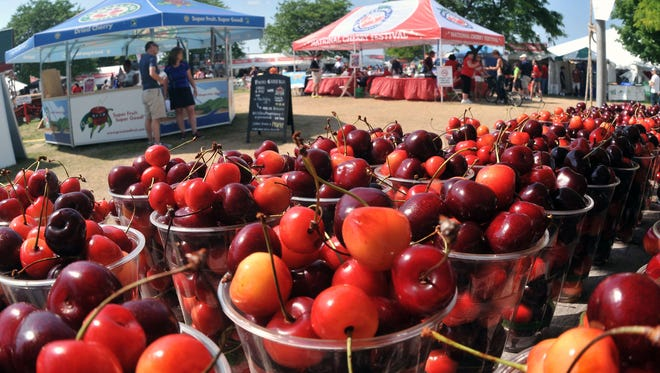 The National Cherry Festival will be July 2-9, 2016, in Traverse City.   John L. Russell