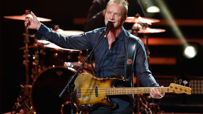 Musician Sting performs during the 'Bambi' award ceremony on Nov. 17, 2016 in Berlin, Germany.
