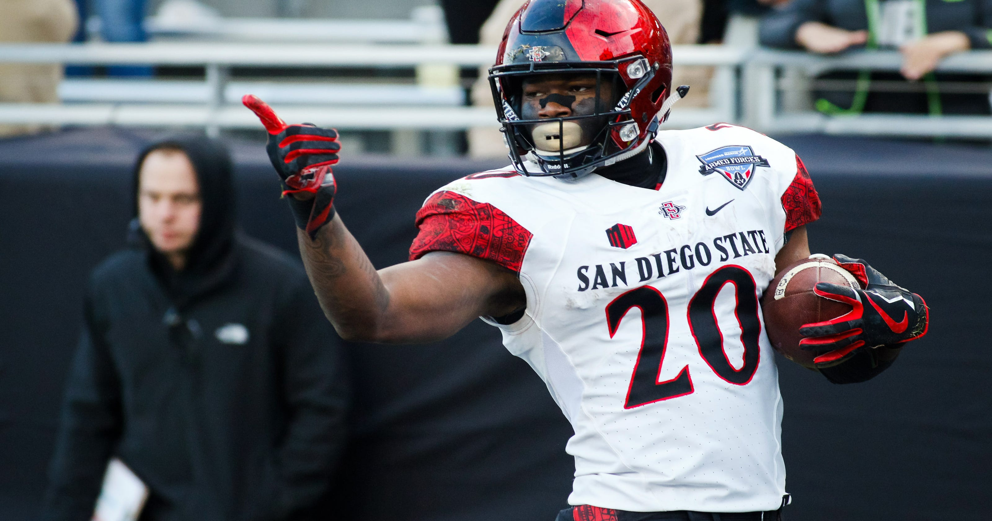 wholesale dealer 1d706 c568a After trading down, Seahawks draft San Diego State RB ...