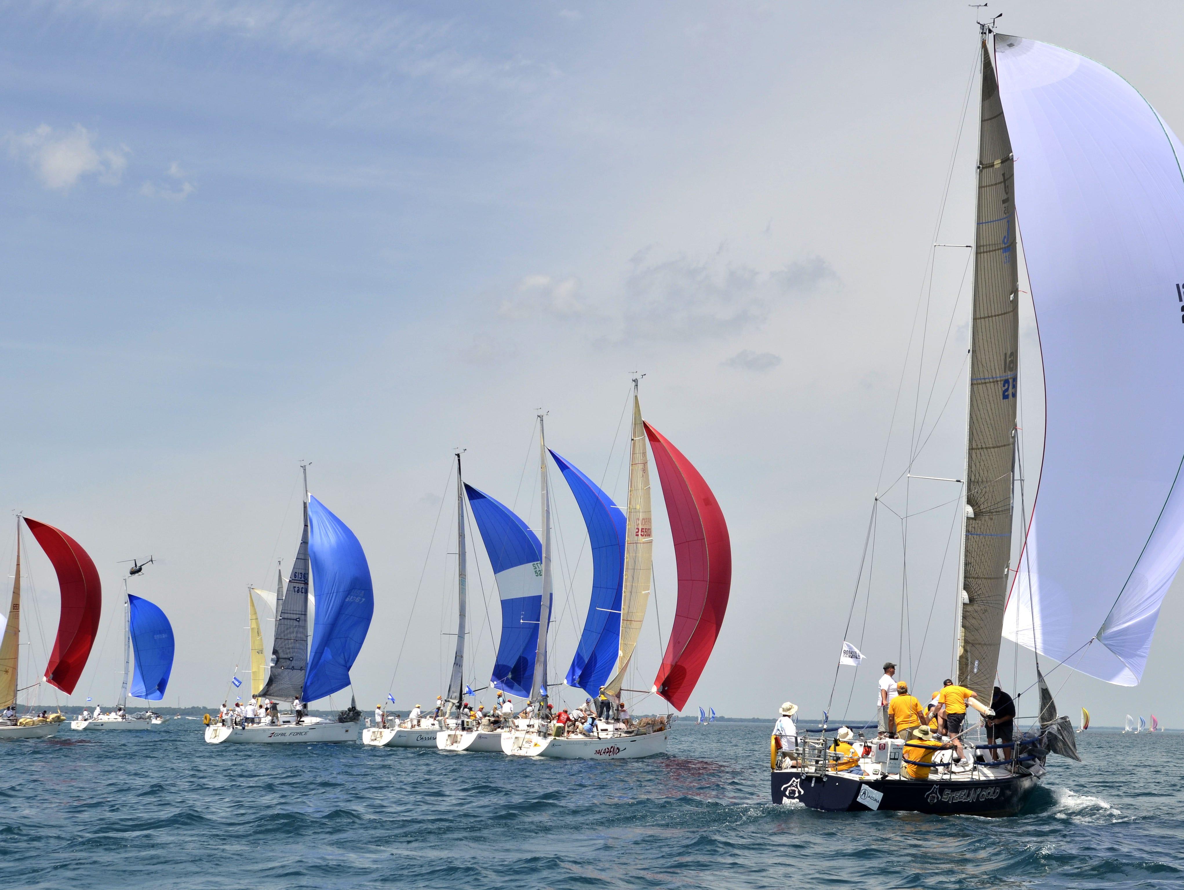 Port Huron- to-Mackinac Island Sailboat Race.