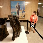 """""""Oregon Clam Diggers"""" by Constance Fowler is on exhibit in the Senate wing at the Oregon State Capitol."""
