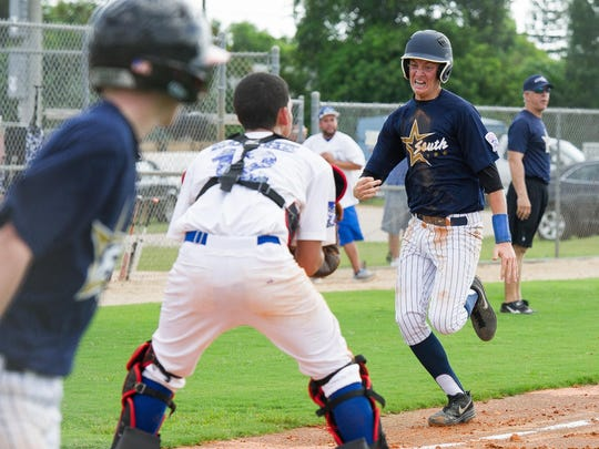 South Fort Myers' Bryce Einstein sprints to home against