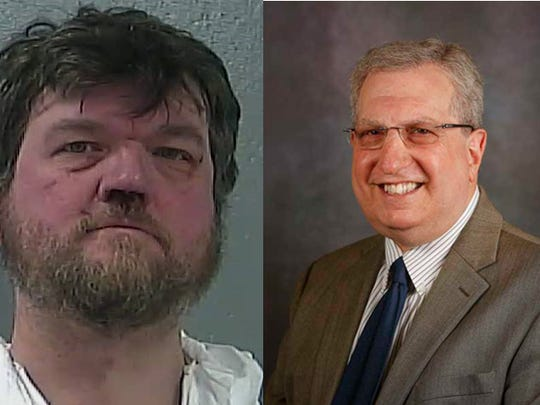 Edward Gutting, left, is charged in the death of retired Missouri State professor Marc Cooper in August.