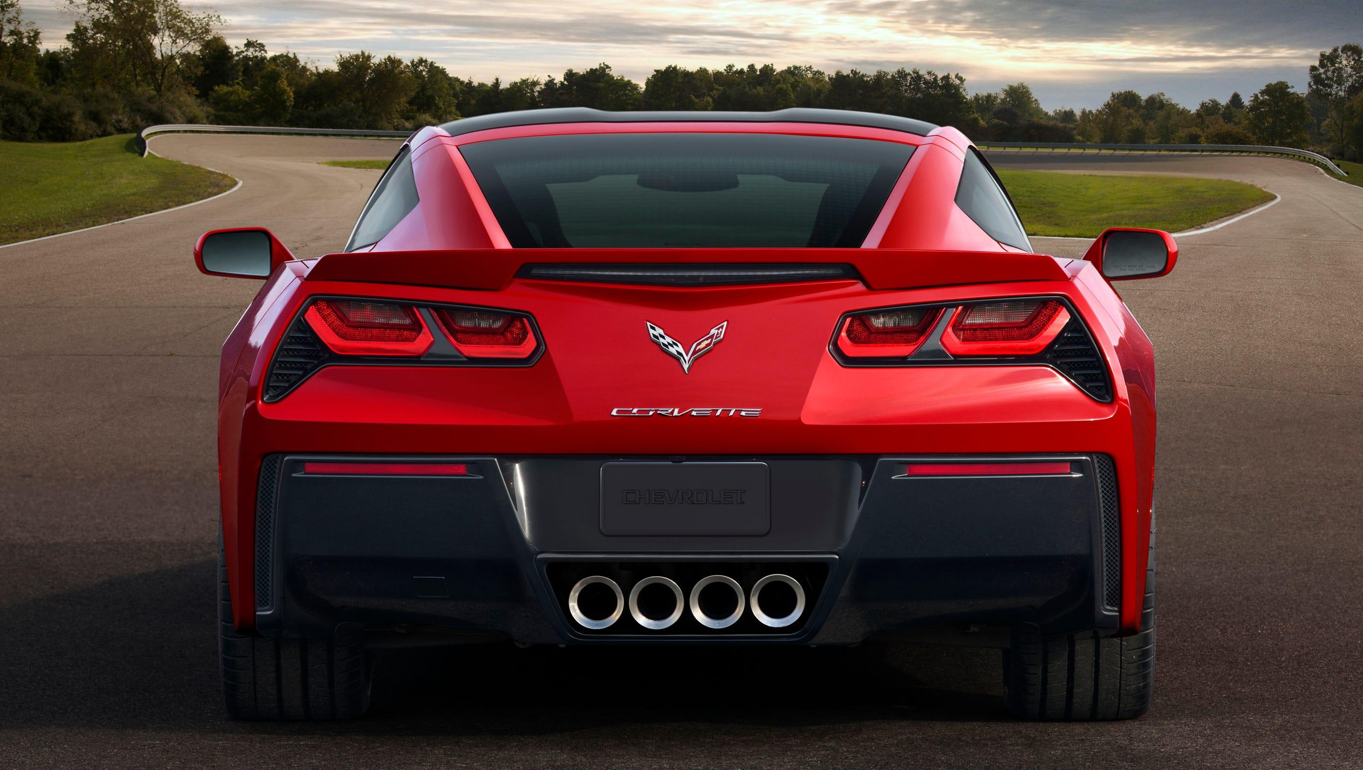 The rear stance of the redone 2014 Chevrolet Corvette Stingray.