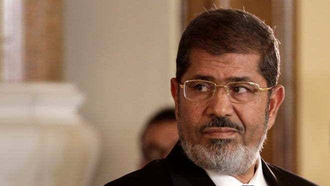Egyptian President Mohammed Morsi in Cairo in September.