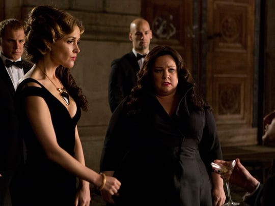 Rose Byrne (left) is the villain to Melissa McCarthy's