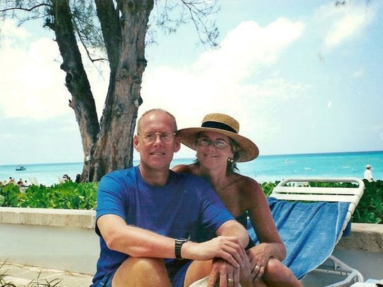 Tim Franson and his wife, Chris, on vacation in Florida