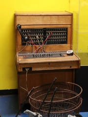 An old switchboard. The Imaginarium and the Southwest Florida History Museum have begun to move in together and melded their exhibits. Matt Johnson, Executive Director, is working to get the historical exhibit up and on display.