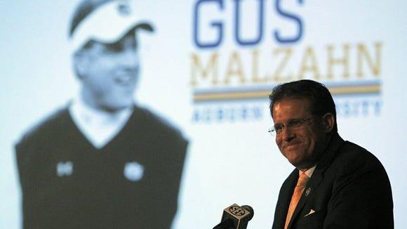 Auburn coach Gus Malzahn's squad opens the season No. 5 in the Amway Coaches Poll.