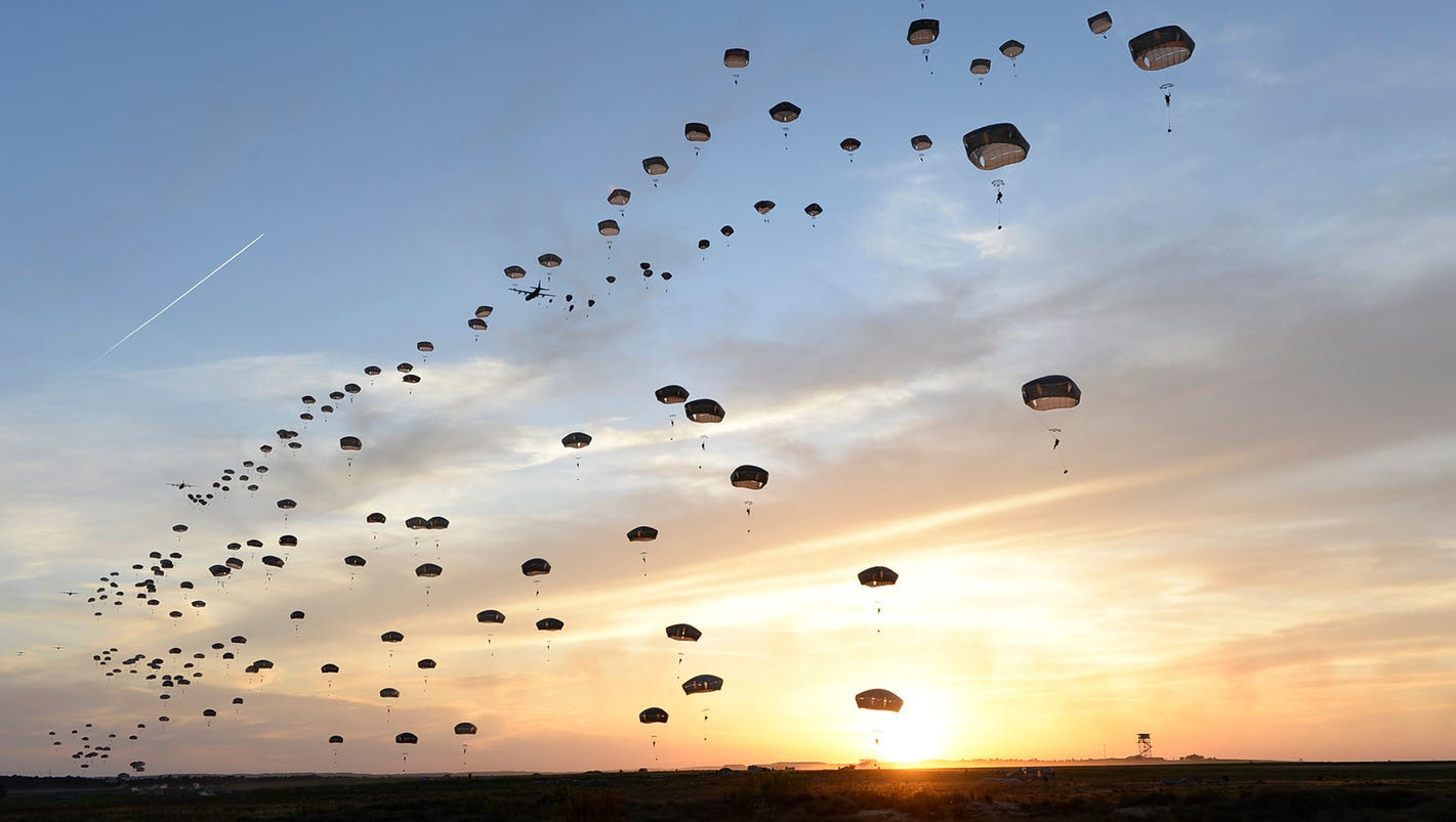 50 paratroopers injured in major airborne operation