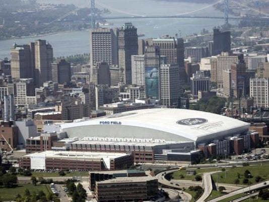 Ford Field shown in downtown 13 July, 20