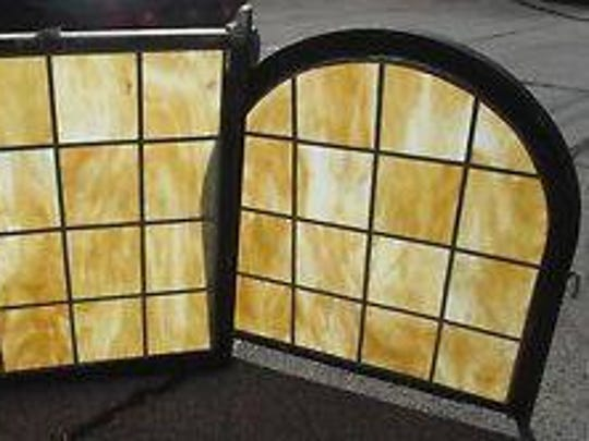 These are the windows stolen out of the home in Newport. They were recovered after local collector Carl Fox spotted them for sale on eBay.