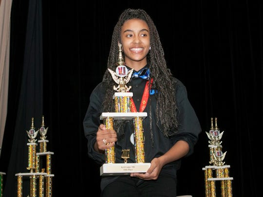 Sa'Nya Burton, 7th grade, tied for 3rd in K8 under 750 section in national chess competition on Nashville, Tenn., May 10-13, 2017. She is a student at The University Prep Science and Math School in Detroit.